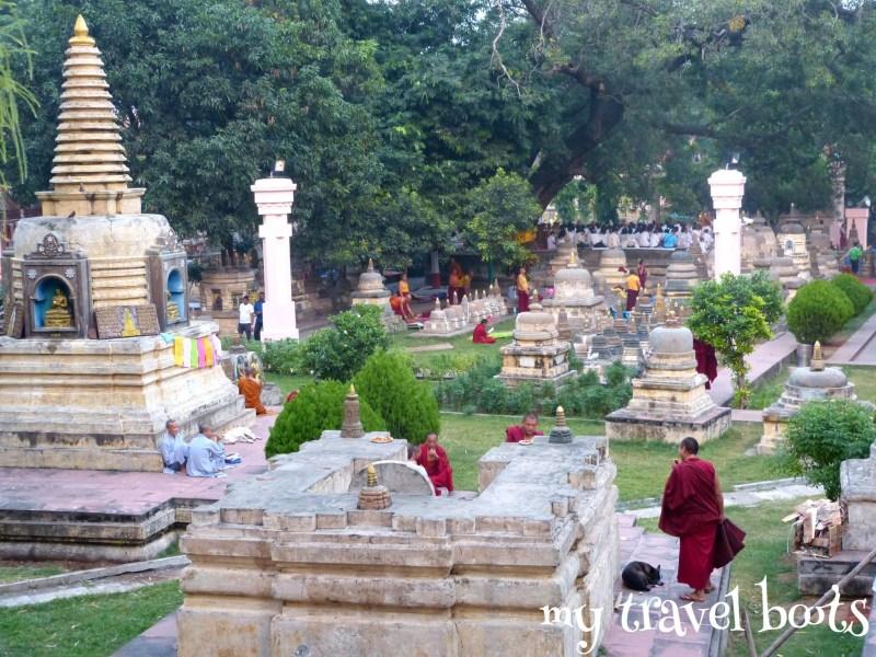 stupa at Mahabodhi