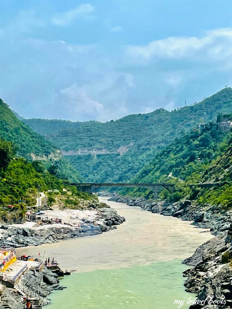 Confluence of Bhagirathi and Alaknanda river