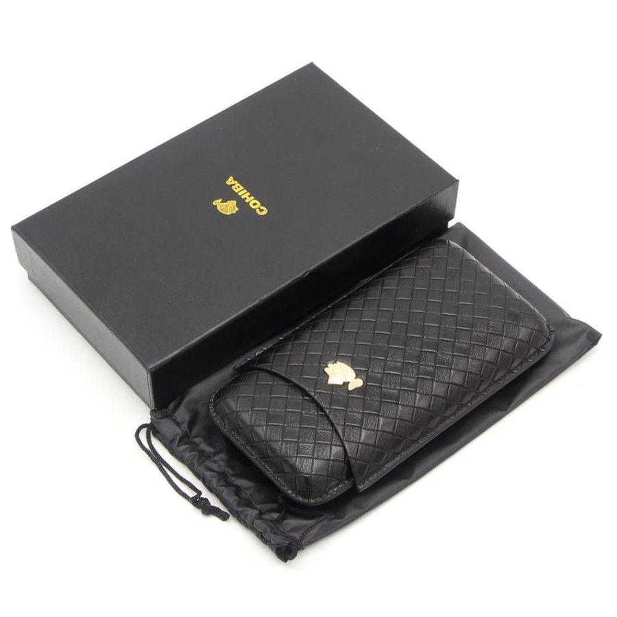 Portable Cigar Humidor - Leather Cigar Case Holder W/ Gift Box