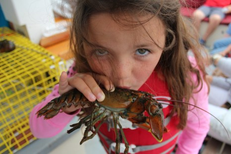 A fun day out on the water on a lobster boat in Kennebunkport Maine. www.mytravelingkids.com