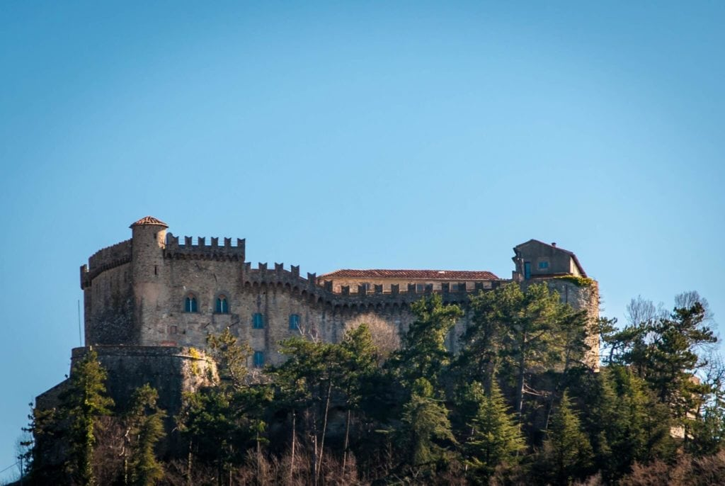 Fosdinovo castle view Tuscany