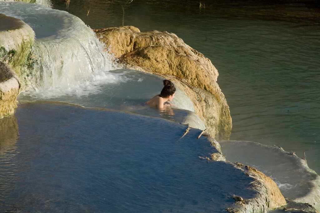 Terme di Saturnia Hot springs in Tuscany