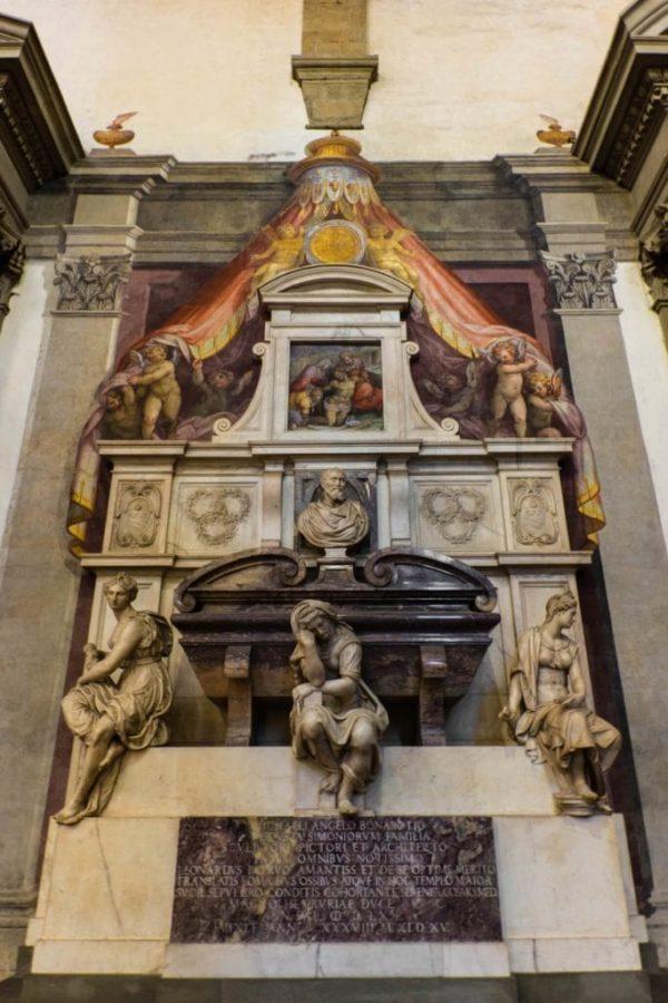Michelangelo grave Santa Croce Florence