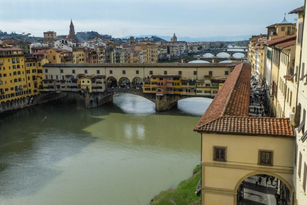 Vasari Corridor from the Uffizi