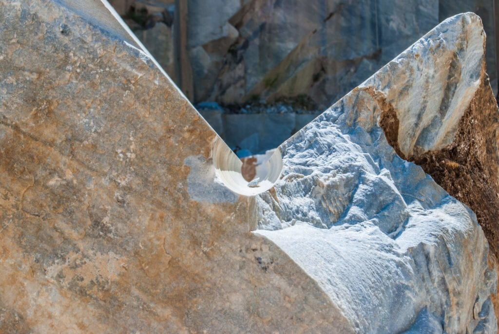 composition marble quarries of Carrara