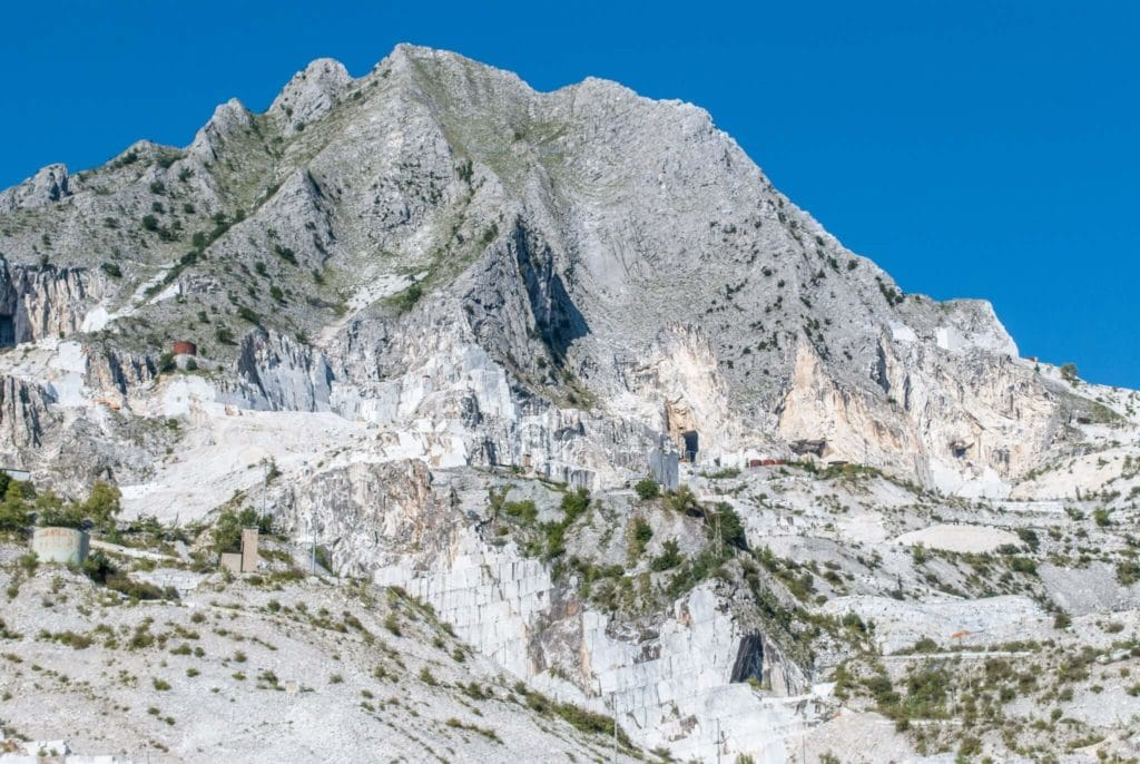 white marble quarries of Carrara from Colonnata