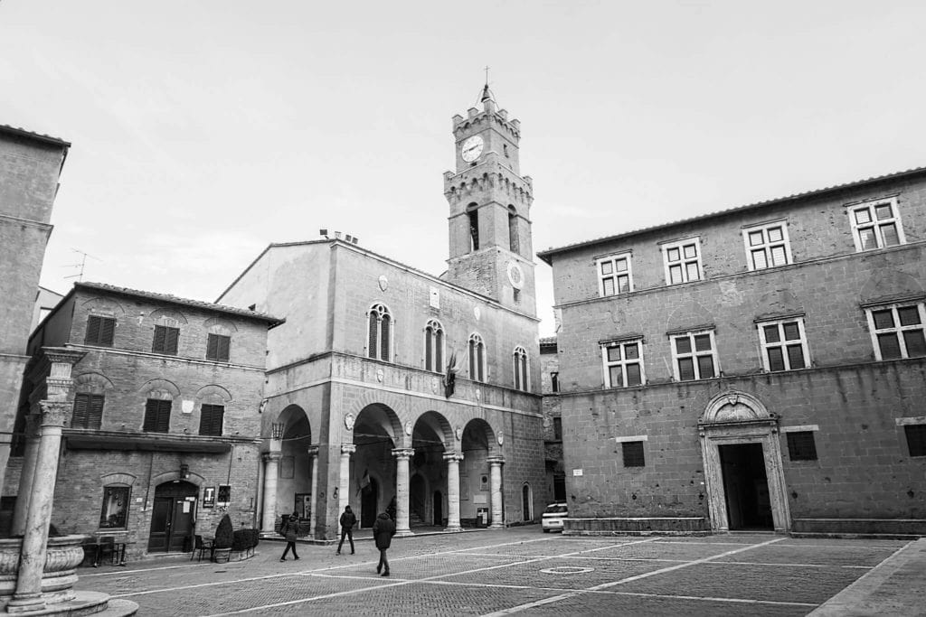 Pienza Tuscany in winter