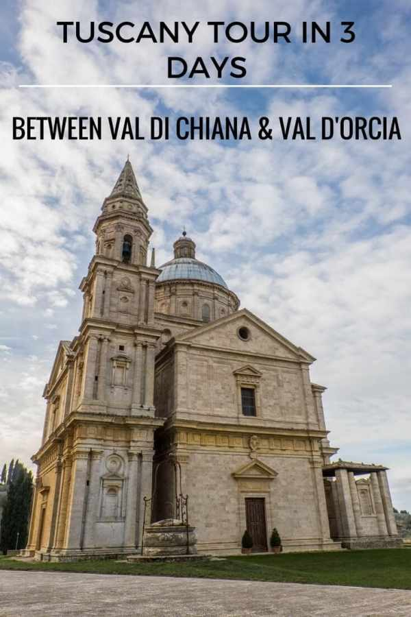 Tour of Tuscany in 3 days between val d'Orcia and Valdichiana