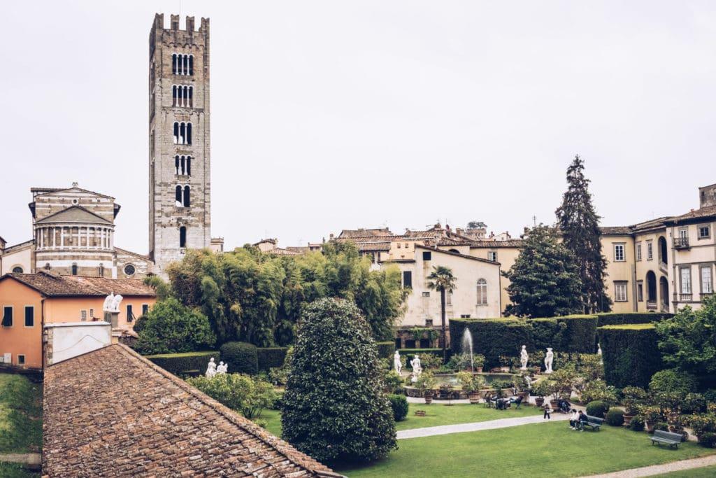 palazzo pfanner and San Frediano church
