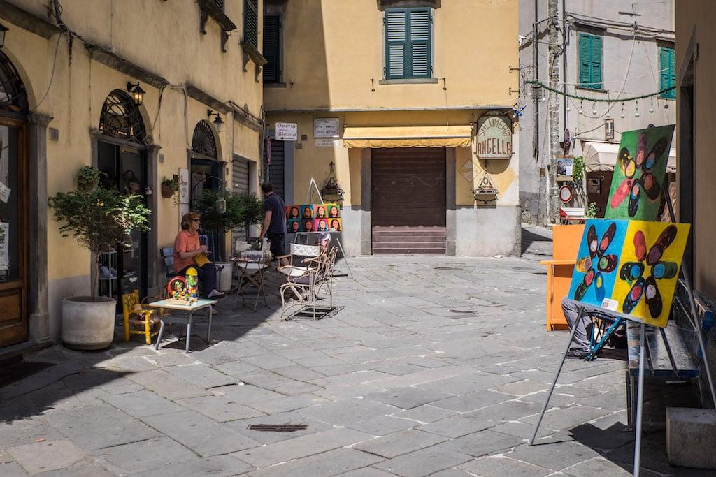 Street of Pontremoli Tuscany