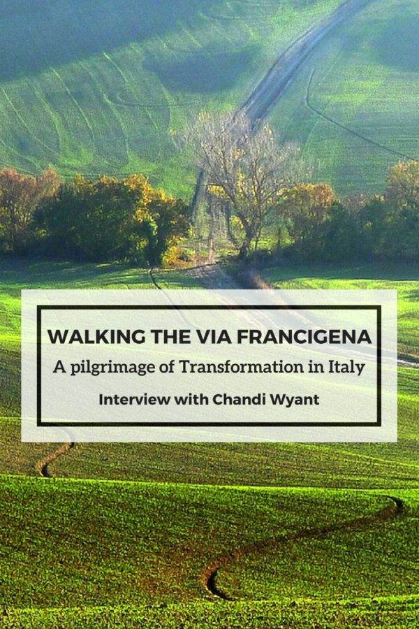 Walking the Via Francigena Pinterest Cover