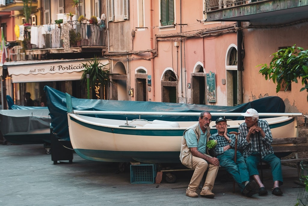 From Florence to Cinque Terre, old men