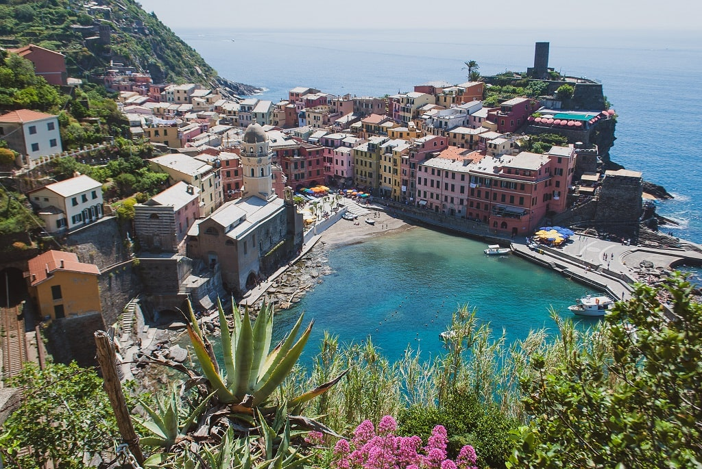 From Florence to Cinque Terre, View of Vernazza