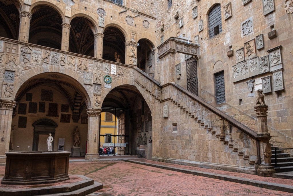 The backyard of Bargello Museum, Michelangelo's David Tour in Florence
