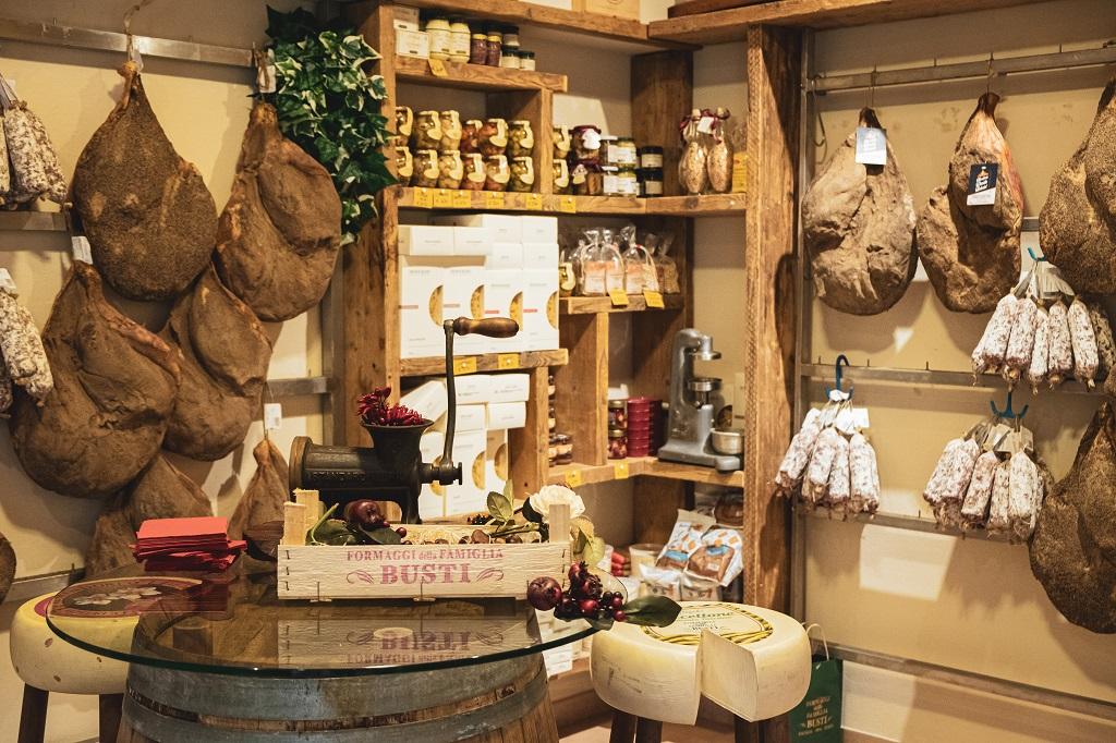 Butcher shop Balestri in lari, valdera in Tuscany