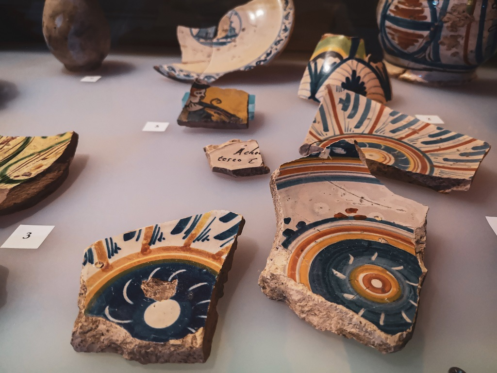 Pottery from Ceramic Museum Valdera in Tuscany