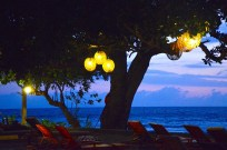 After sunset at the hotel..