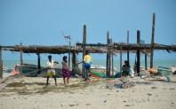 Mending the nets...