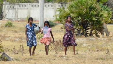 Girls in field...