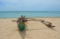 outrigger boat on Trinco beach...