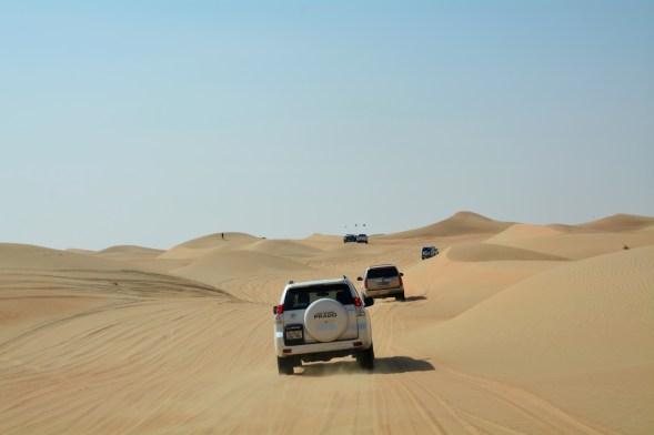 Wending through the dunes...