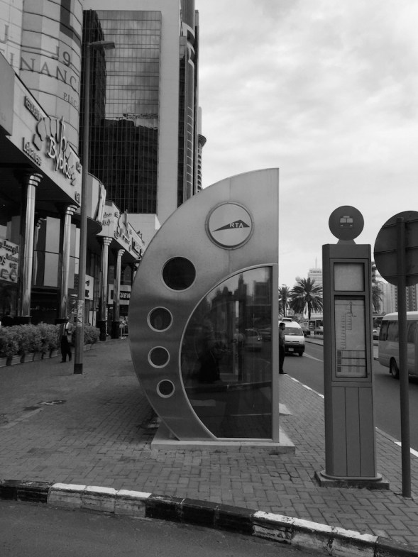 7-I love the funky bus shelters here, air-conditioned for the intense summer heat...