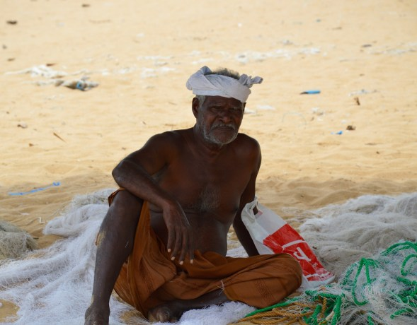 Old fisherman on Mannar, impervious to my camera....