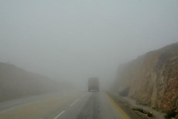 Heading up through the mist....