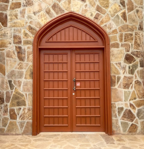 Modern doors at the Archeological centre....Omani traditional style.
