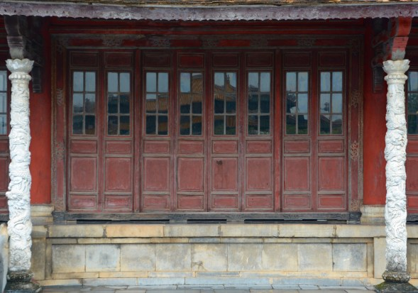 Some very attractive doors in the facade, but, there are better inside the Citadel...