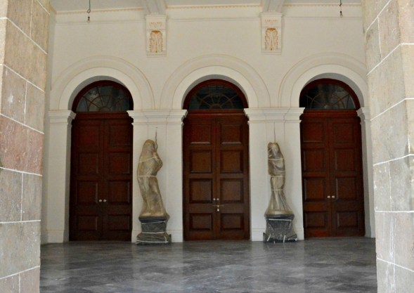 One set of main doors... I feel crinolines and pith helmets may have belonged here...