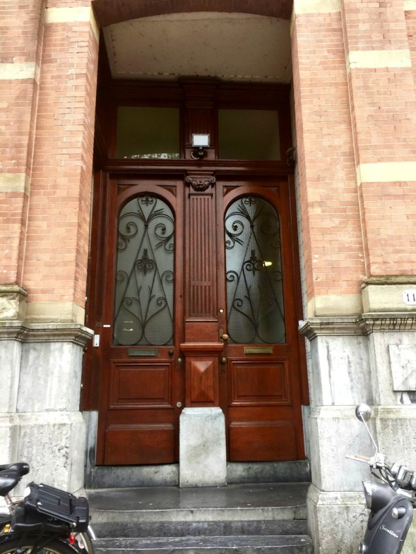Some very imposing doors, canal side...