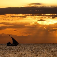Skywatch Friday, 30/6/17, a Zanzibar sunset...
