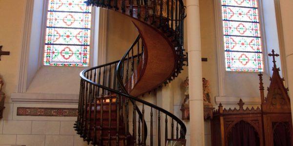 Drewniane schody widok