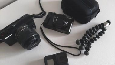 mon matériel photo et vidéo en voyage