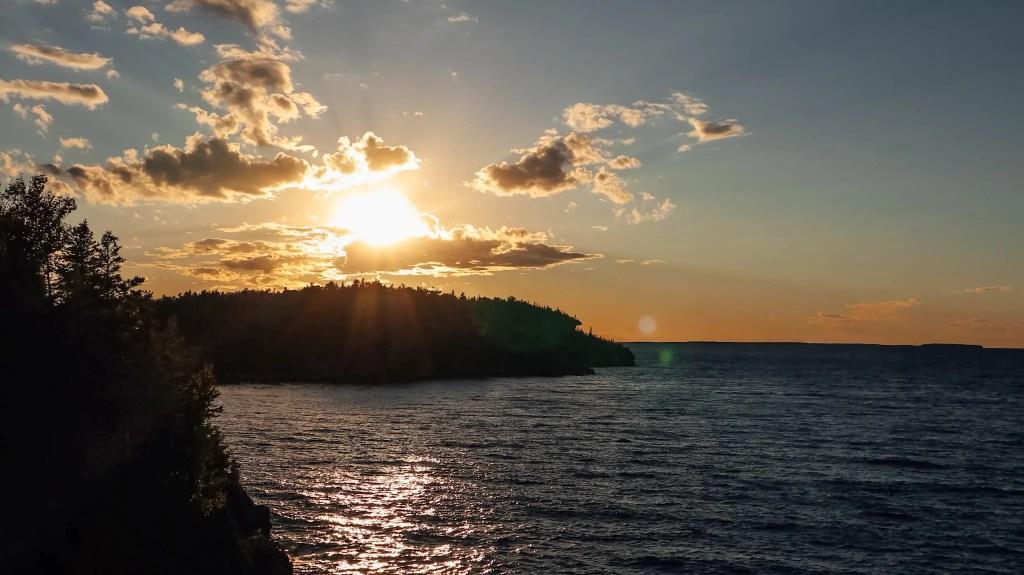 sunset péninsule de bruce