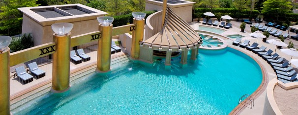 Outdoor swimming pool | Image Resource : raffles.com