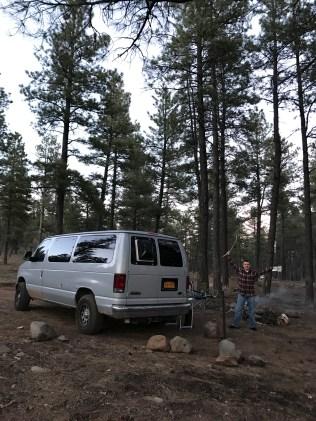 Camping in a national forest