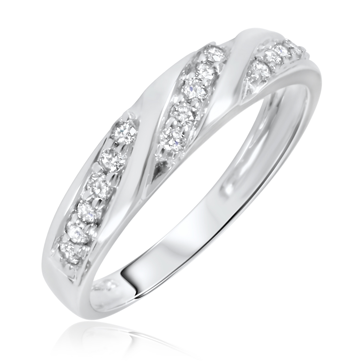 White Gold Ladies Rings  White Gold