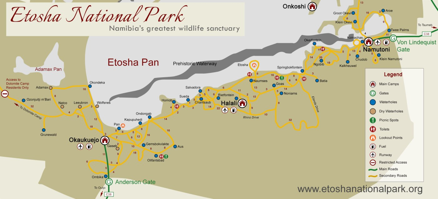 etosha-road-map