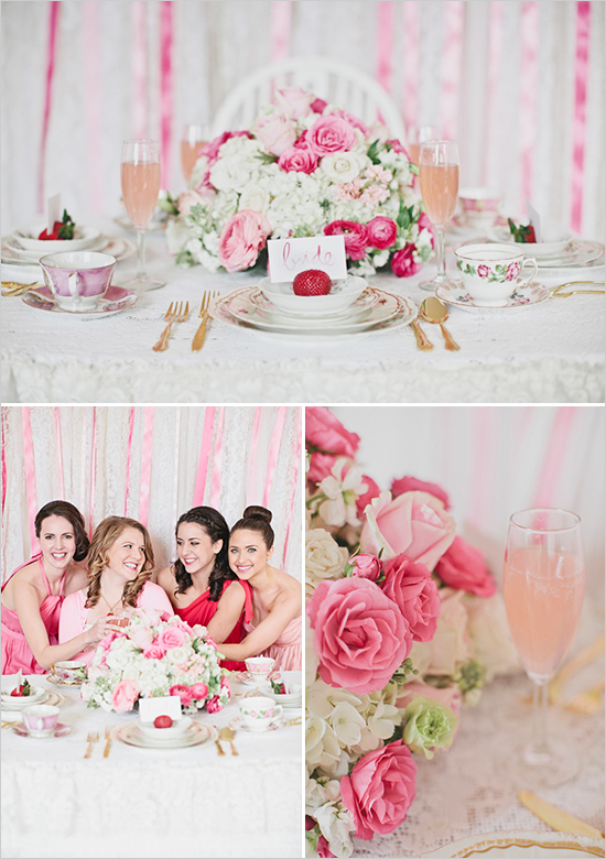 Pink And Gold Bridal Shower Photo By Lila Read More Http
