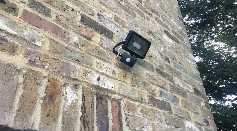 electrician need security lights Harlow