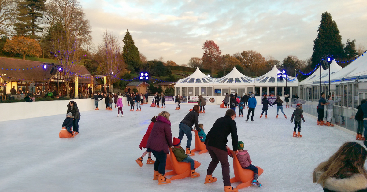 Father Christmas at Tunbridge Wells Ice Rink in Calverley Grounds