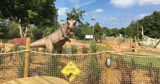 The T-Rex at Mr Mulligans Dino Golf in Tonbridge