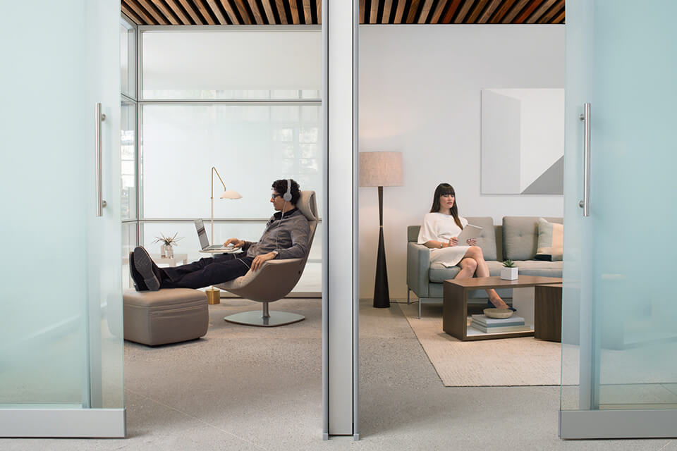 office chair height hanging with cushion how to create quiet spaces in the workplace | turnstone furniture