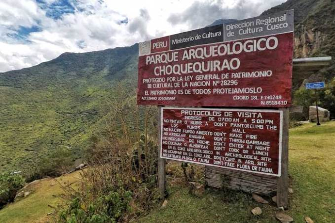 Choquequirao-entrance