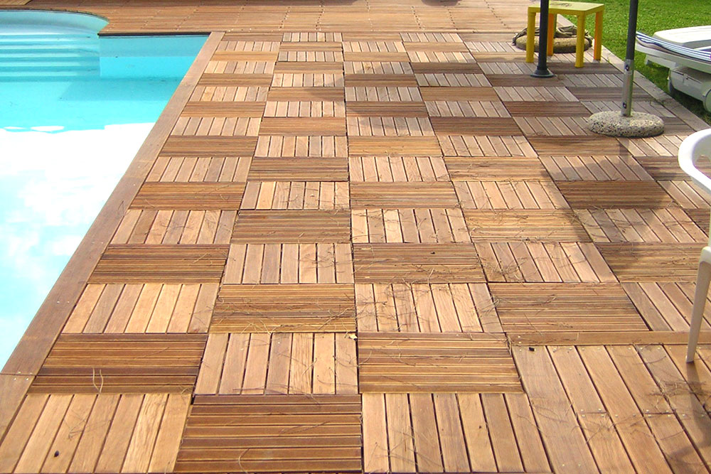 Pavimenti in legno per piscine  Decking