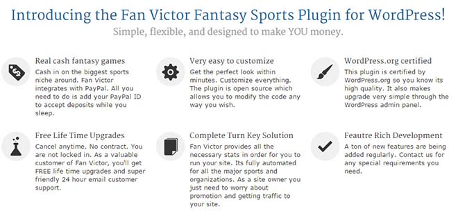 fan-victor fantasy sport site builder