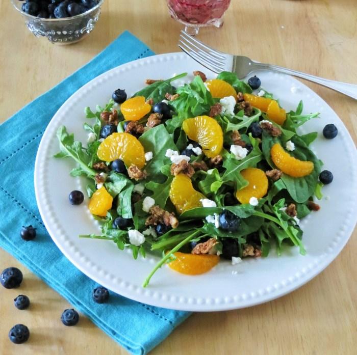 Blueberry-Orange Salad with Blueberry Viniagrette