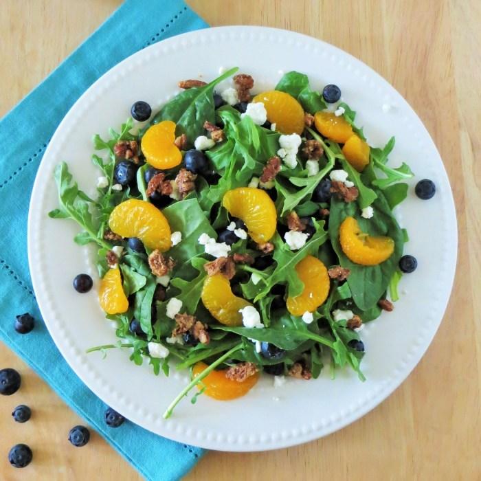 Blueberry Orange Salad with Pecans